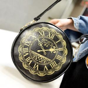 Дамска чанта часовник в Черно