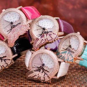 Часовник Prance Butterfly Естествена кожа