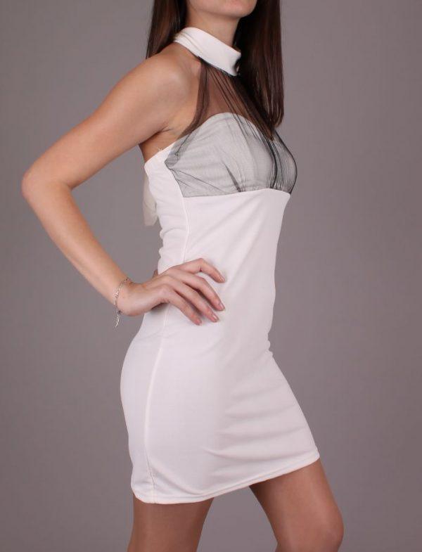 Стилна лятна рокля в Бяло