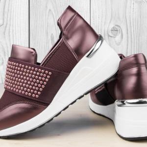 Дамски обувки Lin Bordo