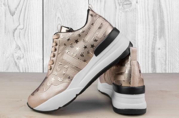 Дамски обувки Stripes & Stars Gold