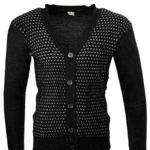 Плетена жилетка в Черно