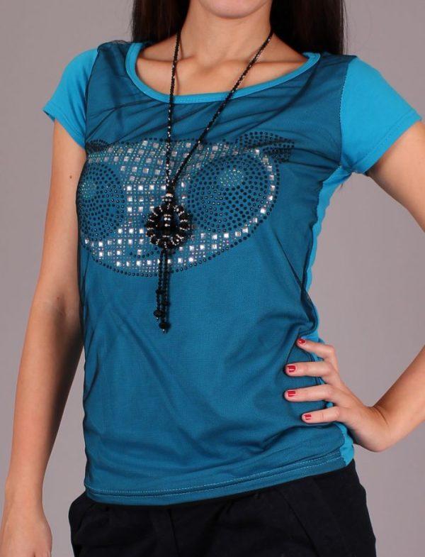 Тениска Panda в Синьо