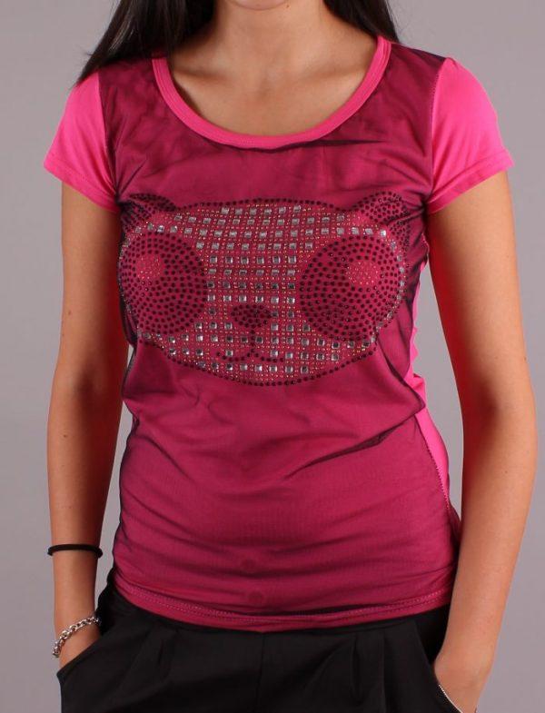 Тениска Panda в Розово