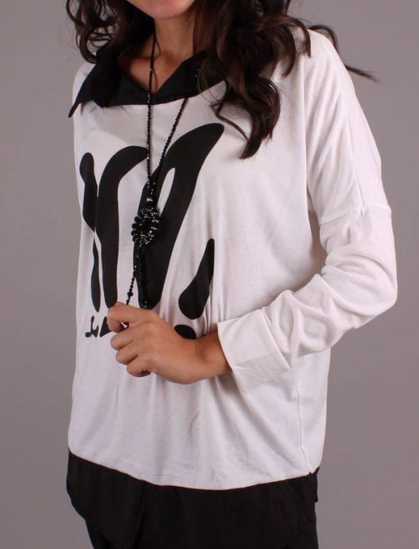 Блуза NO в Бяло