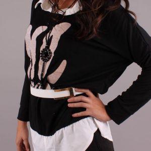 Блуза NO в Черно