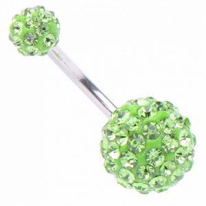 Обеца за пъп Gloss в Зелено