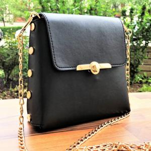 Малка дамска чанта Ava Black