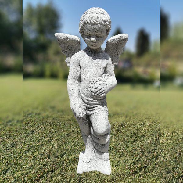 """Градинска бетонна статуя фигура на Ангел в цвят """"Камък"""""""