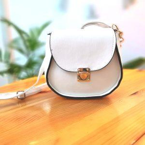 Дамска чанта Gabriella White с дълга дръжка от твърда кожа