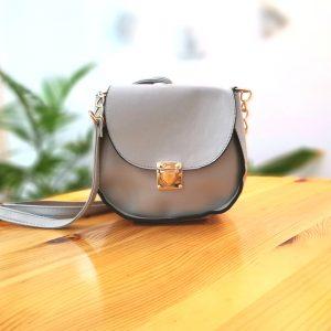 Дамска чанта Gabriella Gray с дълга дръжка от твърда кожа