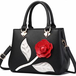 Чанта 3D Rose Black*