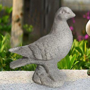 """Гълъб от бетон за интериорна и екстериорна декорация - цвят """"камък"""""""